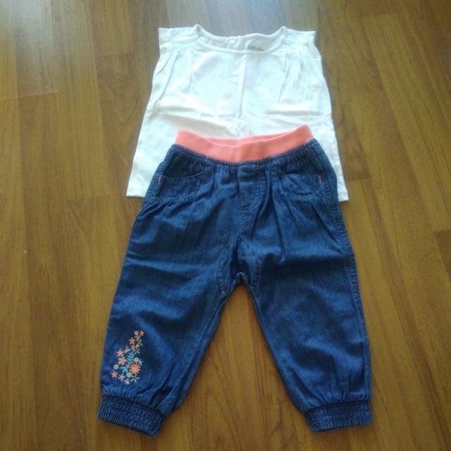 Blouse and pant set