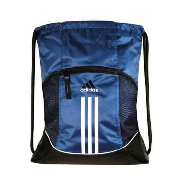 Blue Adidas Drawstring Bag