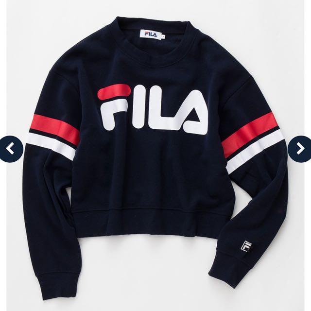 946e9e83 BN Authentic Fila Cropped sweater, Women's Fashion, Clothes, Tops on ...