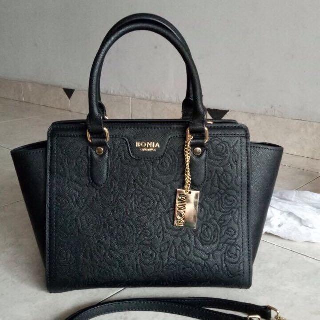 Bonia Embossed Hand Bag