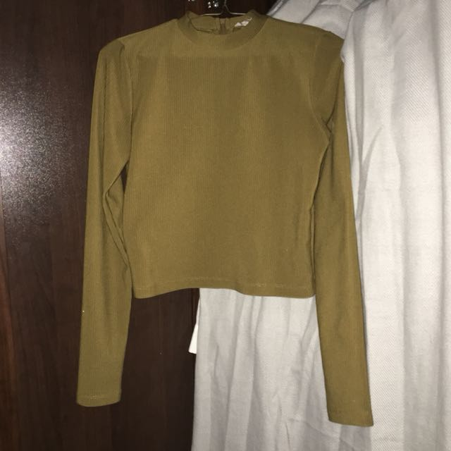 Brown Low Cut Turtle Neck