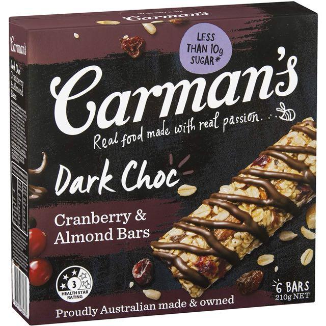 Carman dark choc cranberry 6 pax