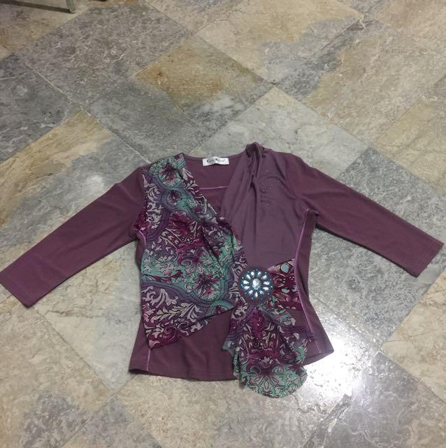 Caroline kosasih purple top