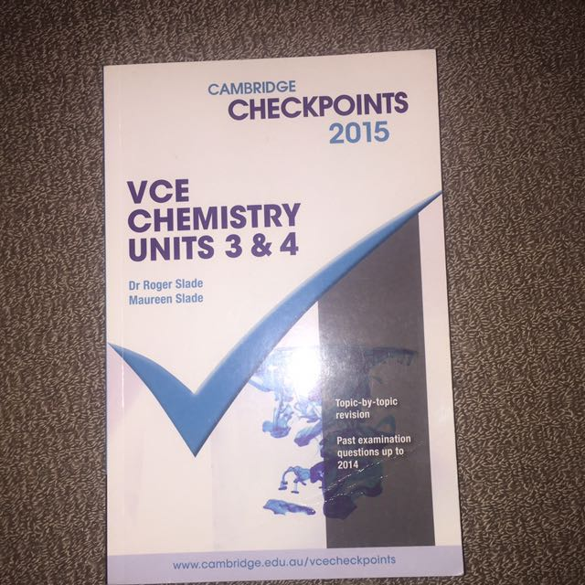 Chemistry Checkpoints 34