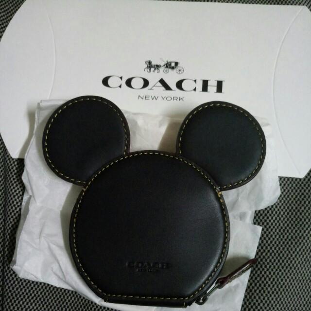 COACH 迪士尼米奇造型零錢包