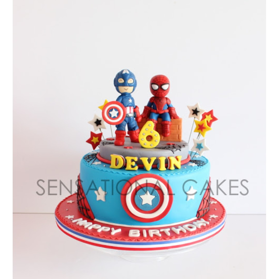 Cuties Spider Man And Captain America Sugar Craft Version Styled 3d