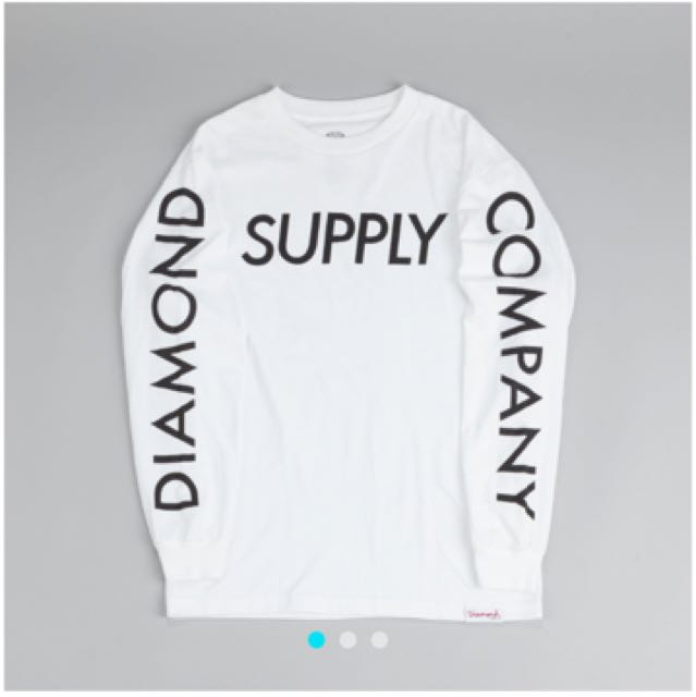 Diamond 長袖 薄 Tee 白 長袖上衣 Supply Long Sleeve T Shirt White