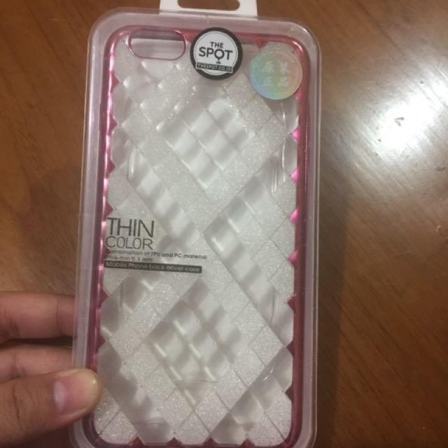 Diamond jelly case pink iphone 6+