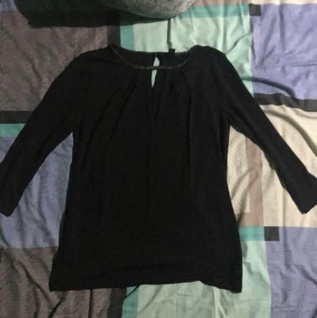 Express Black Blouse Sleeve