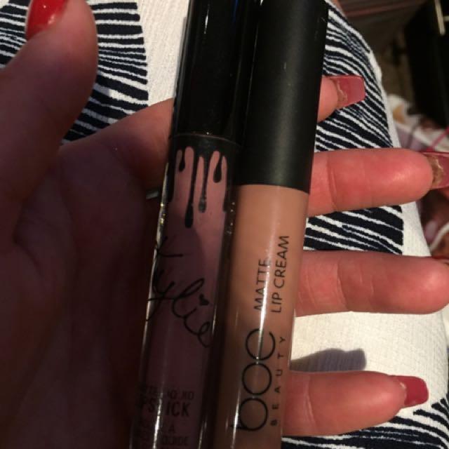 Fake kylie and Bae lipsticks