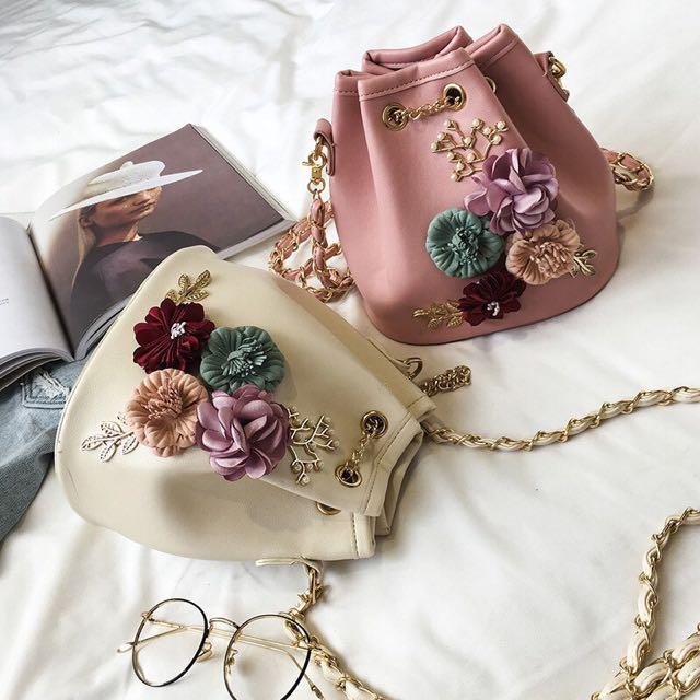 Floral Bucket Bag
