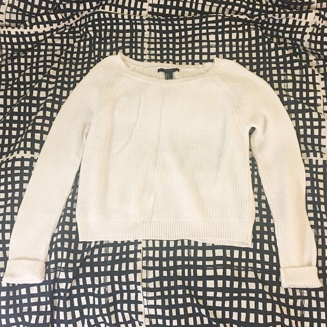 Forever 21 cropped knit sweater size S