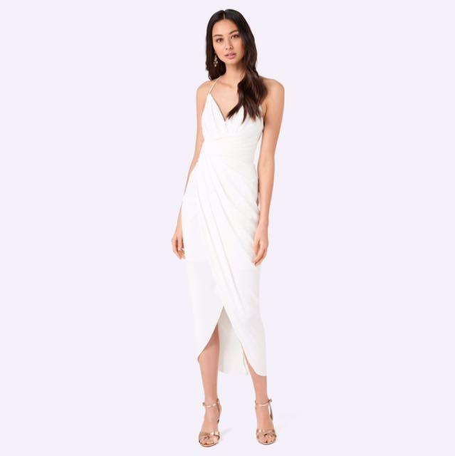 814ef0f17d6 Forever New Charlotte Drape Maxi Dress in Procelain