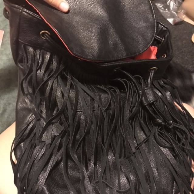 Frilly backpack
