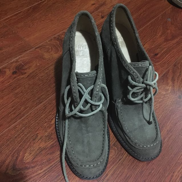 FRYE Suede wedge size 8.5