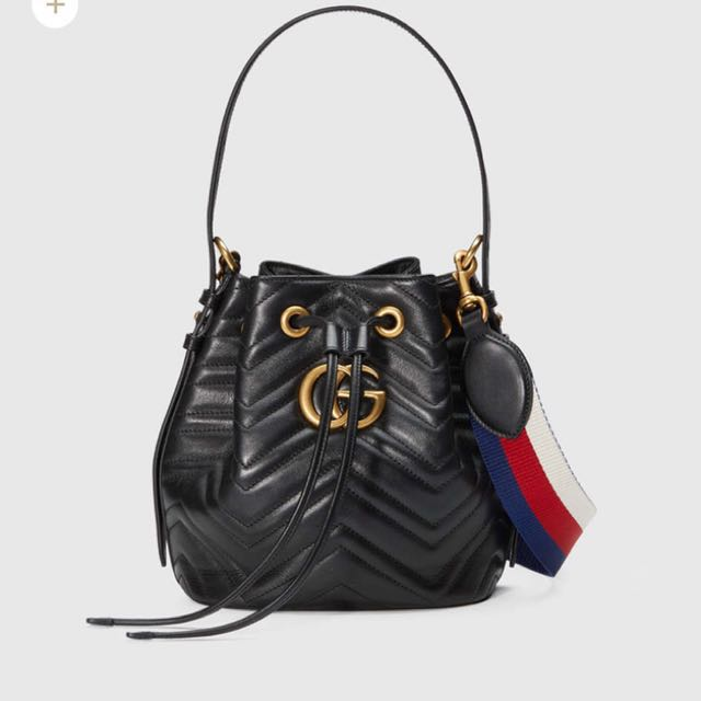 09cc77903c3 Gucci GG Marmont quilted leather bucket bag