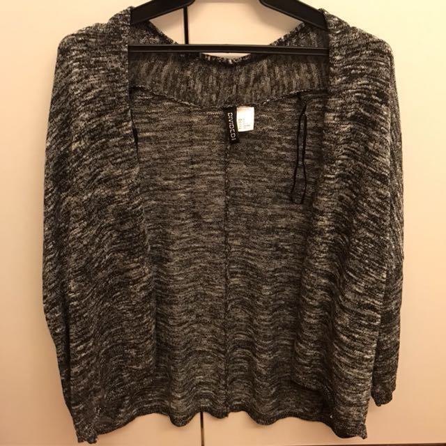 H&M gray knit cover up