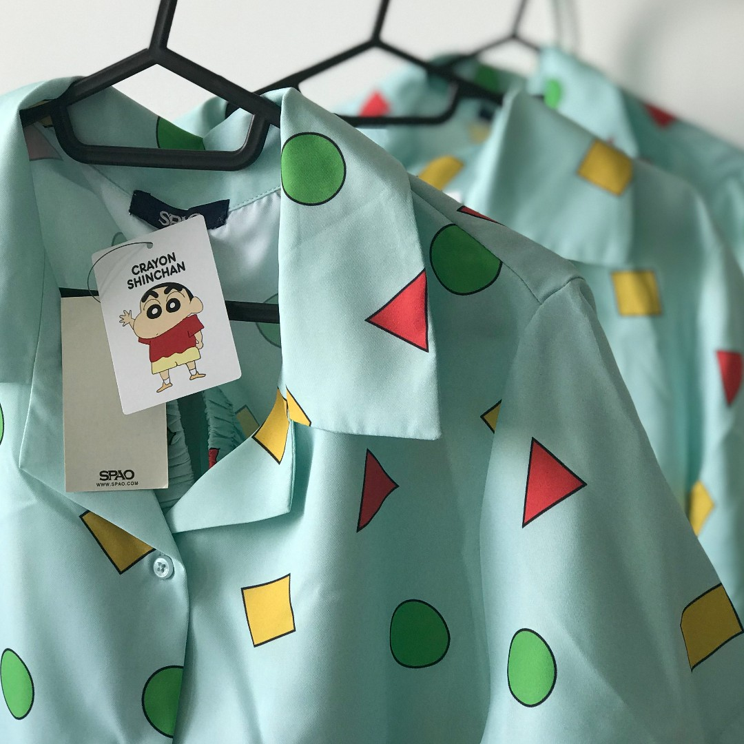 Hot Item  Unisex SPAO x Crayon Shin Chan Pyjamas L Size 4064f2fea311f
