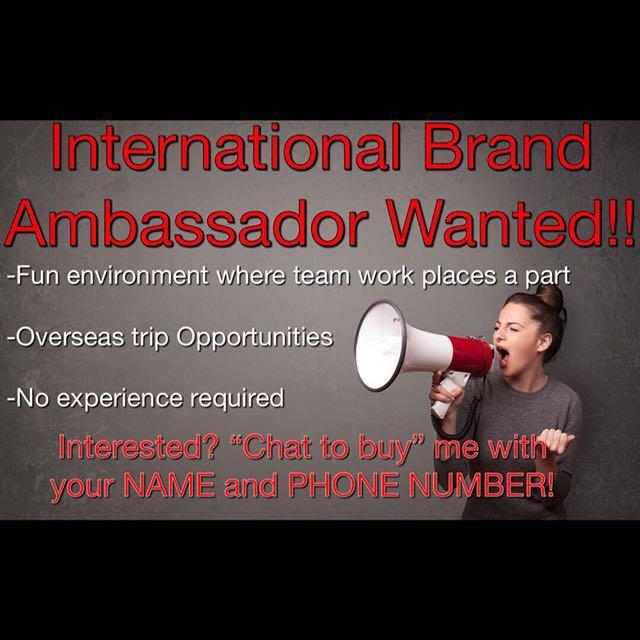 International Brand Ambassador