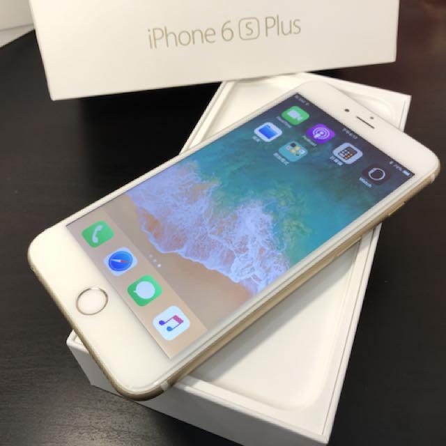 iPhone6S Plus 64G金色 全機包膜 附 盒裝 原廠充電頭線(不分期不換機)高雄鳳山可面交