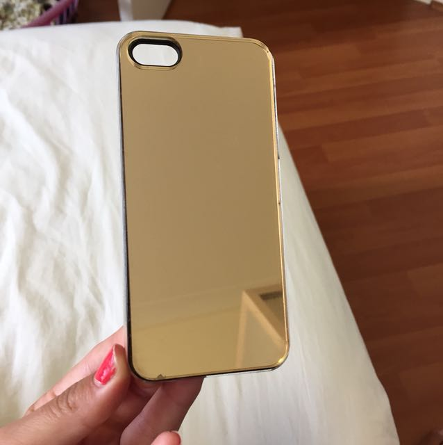 IPHONE 4/5 GOLD MIRROR CASE