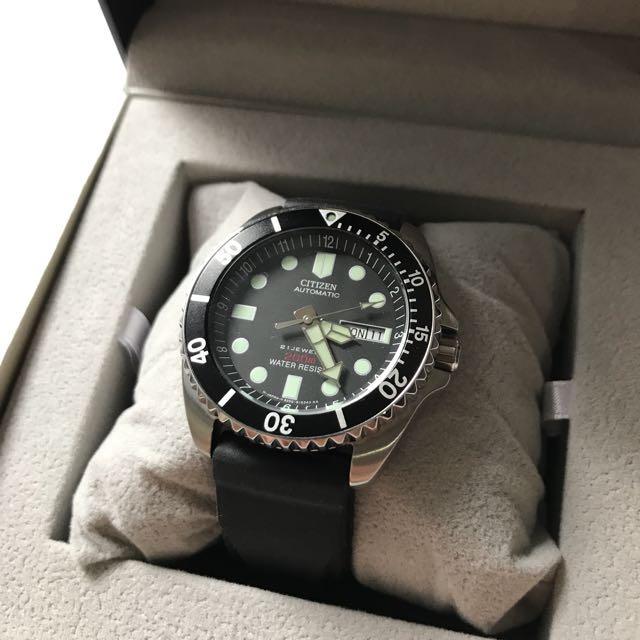 Jam Tangan Pria Citizen Automatic 200M Dive Men's Watch NY2300-09E