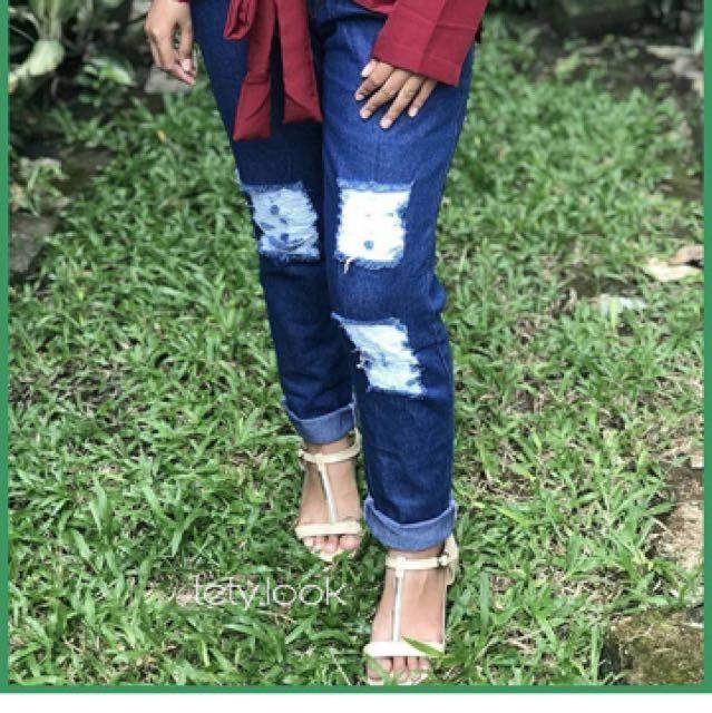 Jeans sobek dark blue