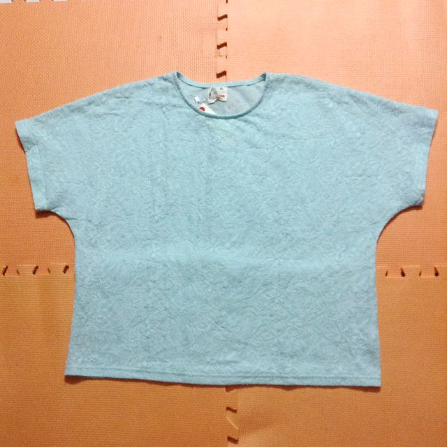 Lace top mint green