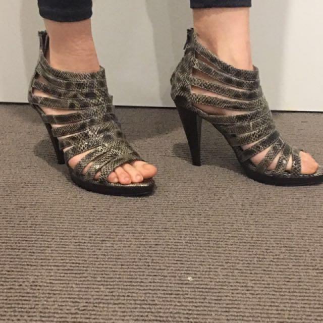 Ladies Snake Skin High Heels