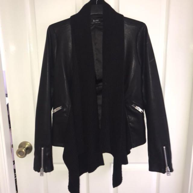 Leather Look Jacket - Bardot
