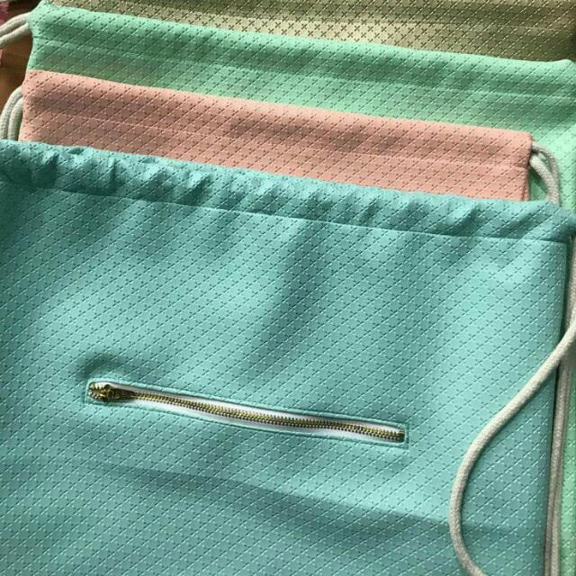 Leather Pastel String Bag