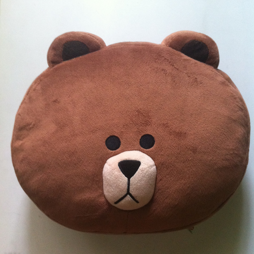 LINE BONEKA BROWN DOLL CUSHION BANTAL COKLAT BERUANG