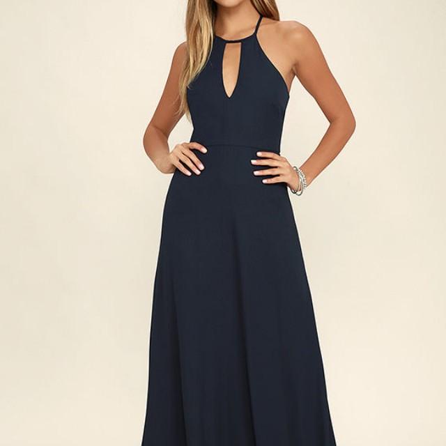 Lulus Beauty and Grace Navy Dress