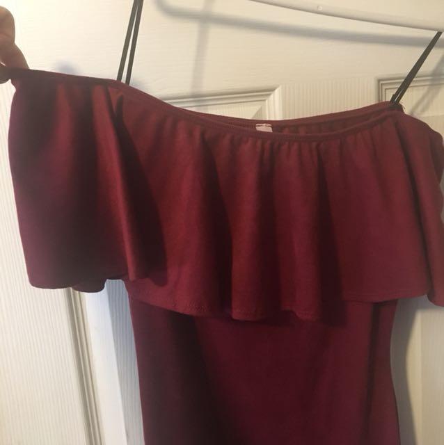 M Boutique off the shoulder dress