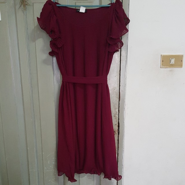 Maroon Flare Dress