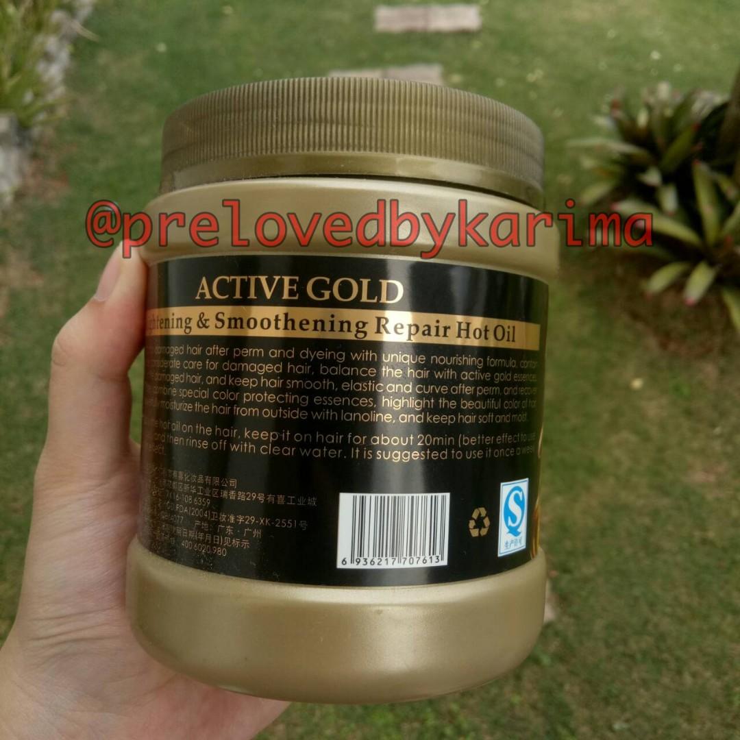 Masker Rambut 24K Active Gold Repair Hot Oil, Kesehatan & Kecantikan, Perawatan Rambut di Carousell