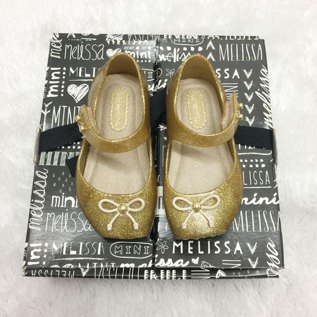 Mini melissa gold ballet