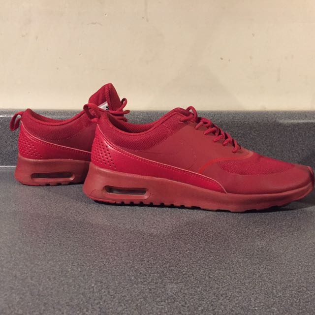 New Red Nike Thea's