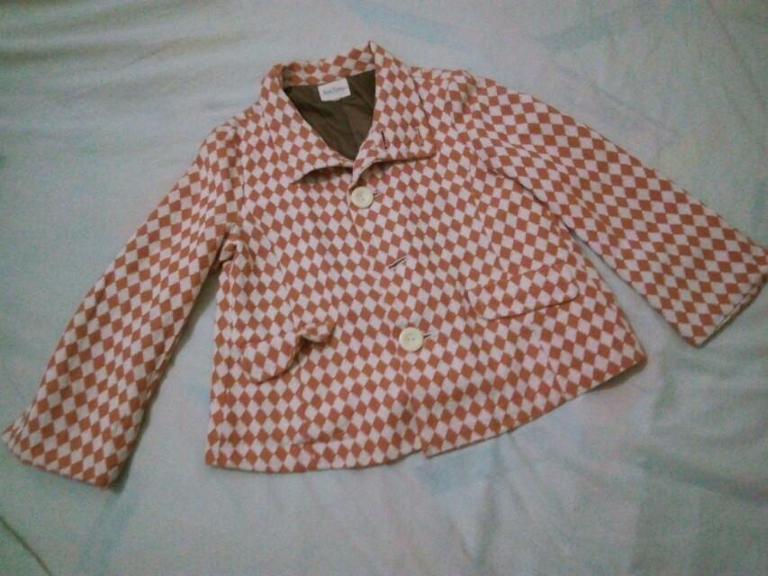 Orange Cropped Jacket