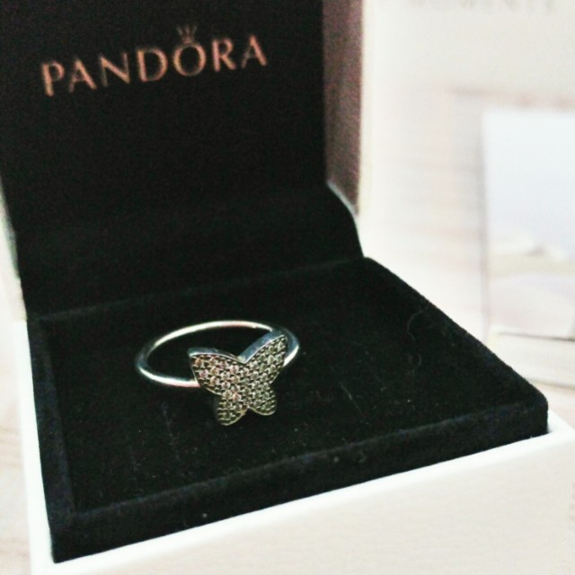 Pandora Sterling Silver Ring - Sparkling Butterfly