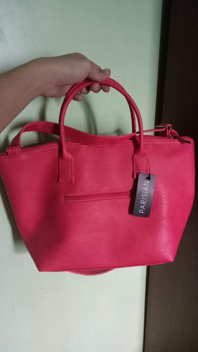 Parisian Pink Sling Bag Preloved Women S Fashion Bags Wallets On Carou