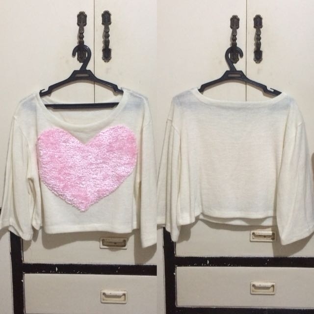 Pastel Pink Heart pullover