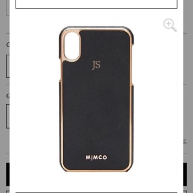 Personalised mimco iphone x case