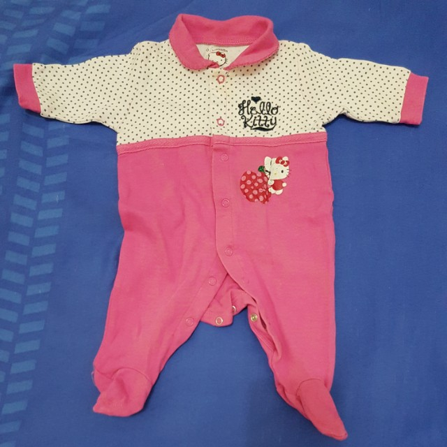 2 items: Pink Hello Kitty Bodysuits (newborn-3 mos)