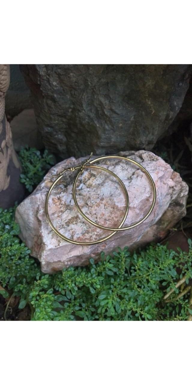 Plain Gold Hoops earrings
