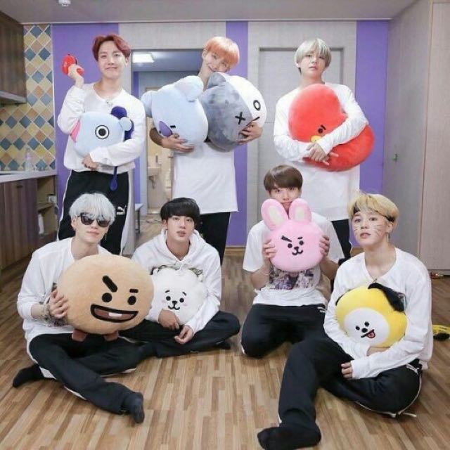 po bts bt21 plushies preorders on carousell