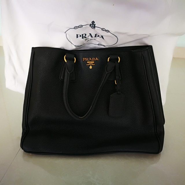 d832f6f8d69d Prada Vit Daino Leather Handbag BN2423 nero