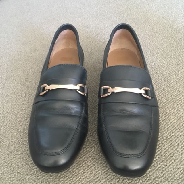 Real leather loafers