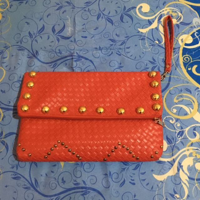 Red Studed Clutch