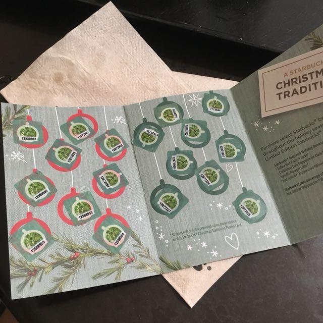 Repriced Starbucks 2018 Planner Sticker Card Tickets